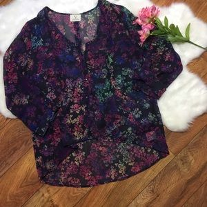 UO Pins And Needles Floral Blouse